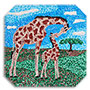 Prime Retreat Giraffe Paint By Numbers Canvas Pointillism