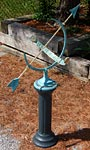 Rome Celtic Knots Armillary Sundial and Roman Pedestal