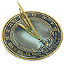 "Rome Brass Grow Old With Me Sundial, Verdigris, 10"" dia."