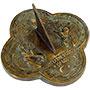 "Rome Brass Angel Sundial, Verdigris, 9.375"" dia."