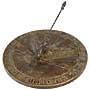 "Rome Brass Peace Dove Sundial, Aged Patina, 11.75"" dia."