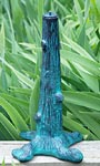 "Rome Cast Iron Tree Sundial Pedestal, Verdigris, 16"""