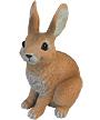 Sculptural Gardens Alert Rabbit Statue