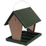 Songbird Essentials Medium Hopper Feeder, Green and Brown