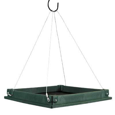 Songbird Essential Large Hanging Platform Bird Feeder Green At Bestnest