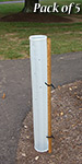 """Miracle Tube Vented Seedling Protectors w/Stakes, 36"""", 5 Pk"""