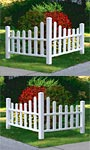 "New England Country Corner Picket Fences, 43""H, set of 2"