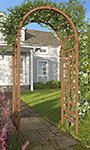 "New England Sierra Composite Wood Arbor, 81""H"