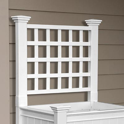 New England Cambridge Raised Planter Trellis White 34 H At Bestnest
