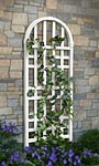 "New England Waverly Trellis, White, 70.5""H"