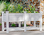 New England Cambridge Raised Planter Bed with Extension Kit