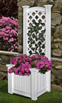 "Eden Kensington Planter Box & Trellis, White, 65""H"
