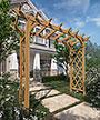 "New England Cedar Heartwood Grande Arbor, Brown, 92""H"