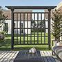 "Vita Gardens Wildwood Cedar Privacy Trellis, Charcoal, 90""H"