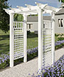 "New England Fairfield Arbor, White, 86""H"
