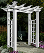 "New England Fairfield Deluxe Arbor, White, 92.4""H"
