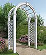 "New England Nantucket Legacy Arbor, White, 102.25""H"