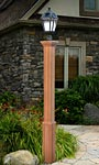 New England Trinity Lamp Post, Wood Grain