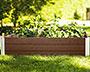 Vita Gardens Urbana Raised Garden Bed, Espresso, 4'L x 4'W