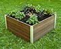 Vita Gardens Urbana Keyhole Garden Bed, Espresso, 4' x 4'
