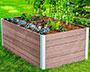 Vita Gardens Urbana Keyhole Garden Bed, Espresso, 5'L x 3'W