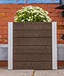 """Vita Gardens Urbana Cube Planter, Espresso, 22""""L"""
