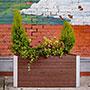 """Vita Gardens Urbana Parklette Planter, Small, Espresso, 39""""L"""