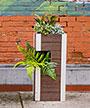 "Vita Gardens Urbana Pillar Planter, Espresso, 13""L x 29.5""H"