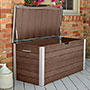"Vita Gardens Urbana Deck Storage Box, Espresso, 49""L"