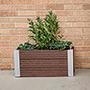 """Vita Gardens Urbana Rectangular Planter, Espresso, 24""""L"""