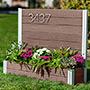 "Vita Gardens Urbana Address Sign w/Planter, Espresso, 40""L"