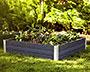 Vita Gardens Urbana Raised Garden Bed, Slate Gray, 4'L x 4'W