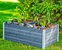 Vita Gardens Urbana Keyhole Garden Bed, Slate Gray, 5' x 3'