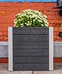 "Vita Gardens Urbana Cube Planter, Slate Gray, 22""L"