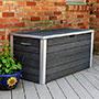"Vita Gardens Urbana Deck Storage Box, Slate Gray, 49""L"