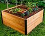 Vita Gardens Mezza Cedar Keyhole Garden Bed, Brown, 4' x 4'