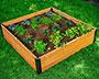 "Vita Gardens Mezza Cedar Garden Bed, Brown, 4'L x 4'W x 11""H"