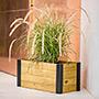 "Vita Gardens Mezza Cedar Rectangular Planter, Brown, 24""L"