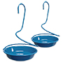 Woodlink Metal Spiral Mealworm Feeders, Blue, Pack of 2
