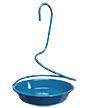 Woodlink Metal Spiral Mealworm Feeder, Blue