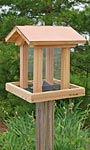 Woodlink Coppertop Cedar Hopper Bird Feeder