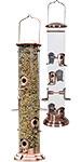Woodlink Copper Mega Tube Bird Feeders, Pack of 2