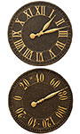 Whitehall Geneva Clock and Thermometer Kit, Aged Bronze, 16""