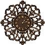 "Whitehall Filigree Silhouette Wall Clock, Aged Bronze, 21"""