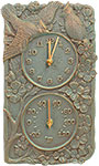 Whitehall Cardinal Clock & Thermometer, Copper Verdi, 13.75""