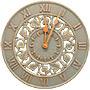 "Whitehall Ivy Silhouette Clock, Copper Verdi, 12"" dia."