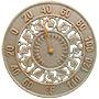 "Whitehall Ivy Silhouette Thermometer, Copper Verdi, 12"" dia."
