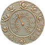 "Whitehall Rose Thermometer, Copper Verdigris, 12"" dia."