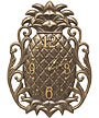 """Whitehall Pineapple Scroll Wall Clock, French Bronze, 13.5""""L"""