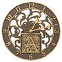 Whitehall Silhouette Monogram Wall Clock, French Bronze